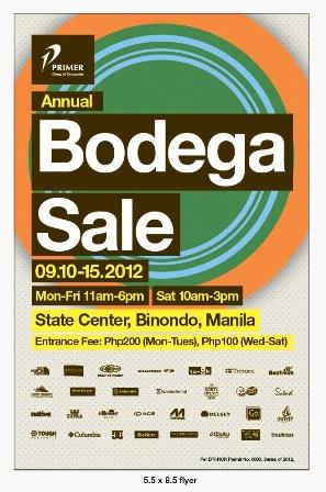 Primer Annual Bodega Sale 2012