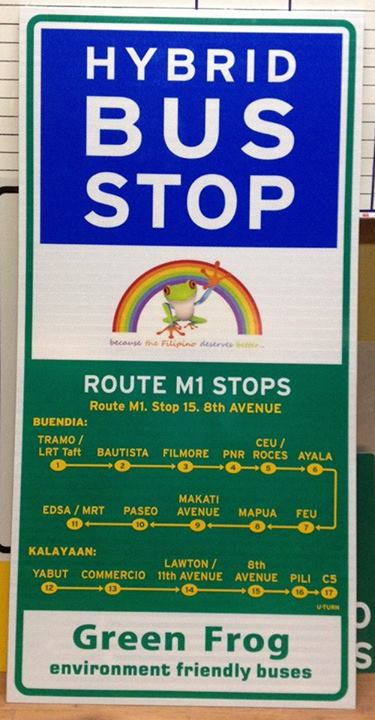 Green Frog Hybrid Bus Route