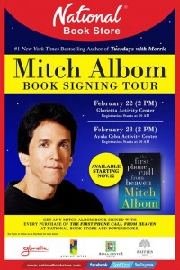 Mitch Albom Book Signing Tour 2014