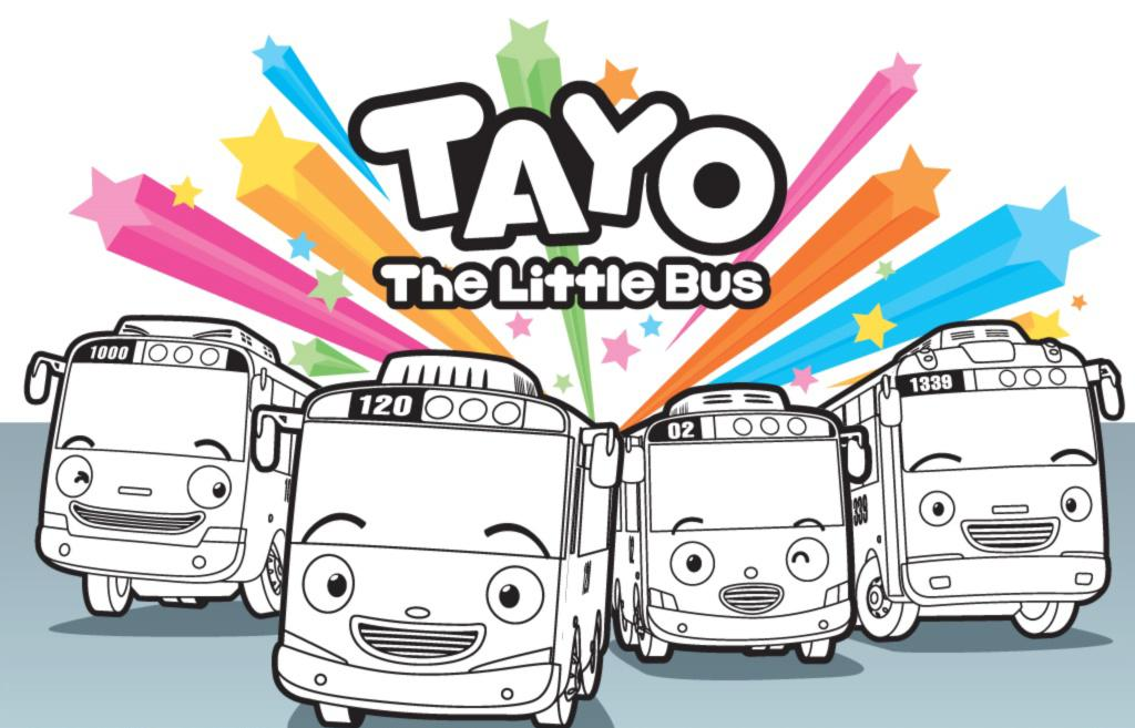 tayo the bus coloring pages - photo#3
