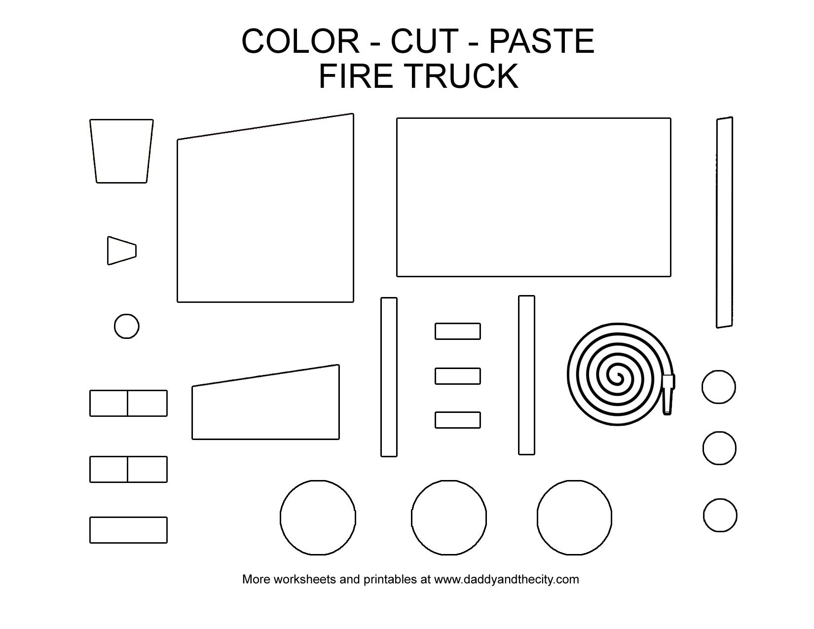 VehicleThemed ColorCutPaste