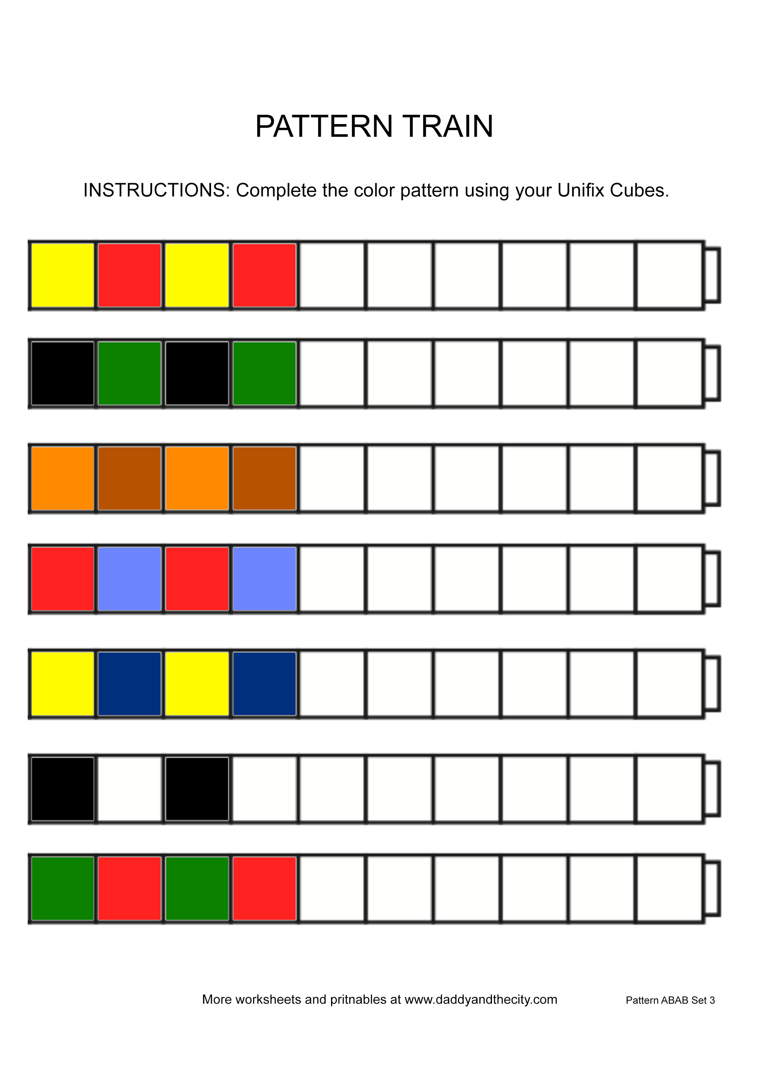 Printable Further Unifix Cubes Printable Worksheets Along With Cube ...