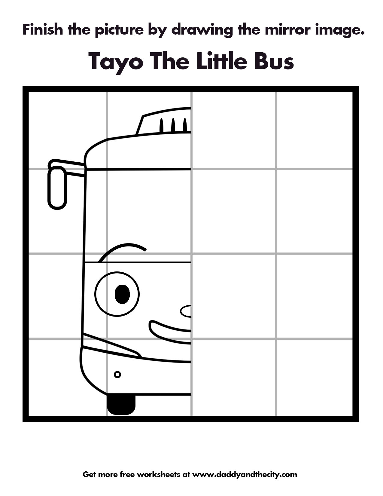 Tayo The Bus Coloring Pages