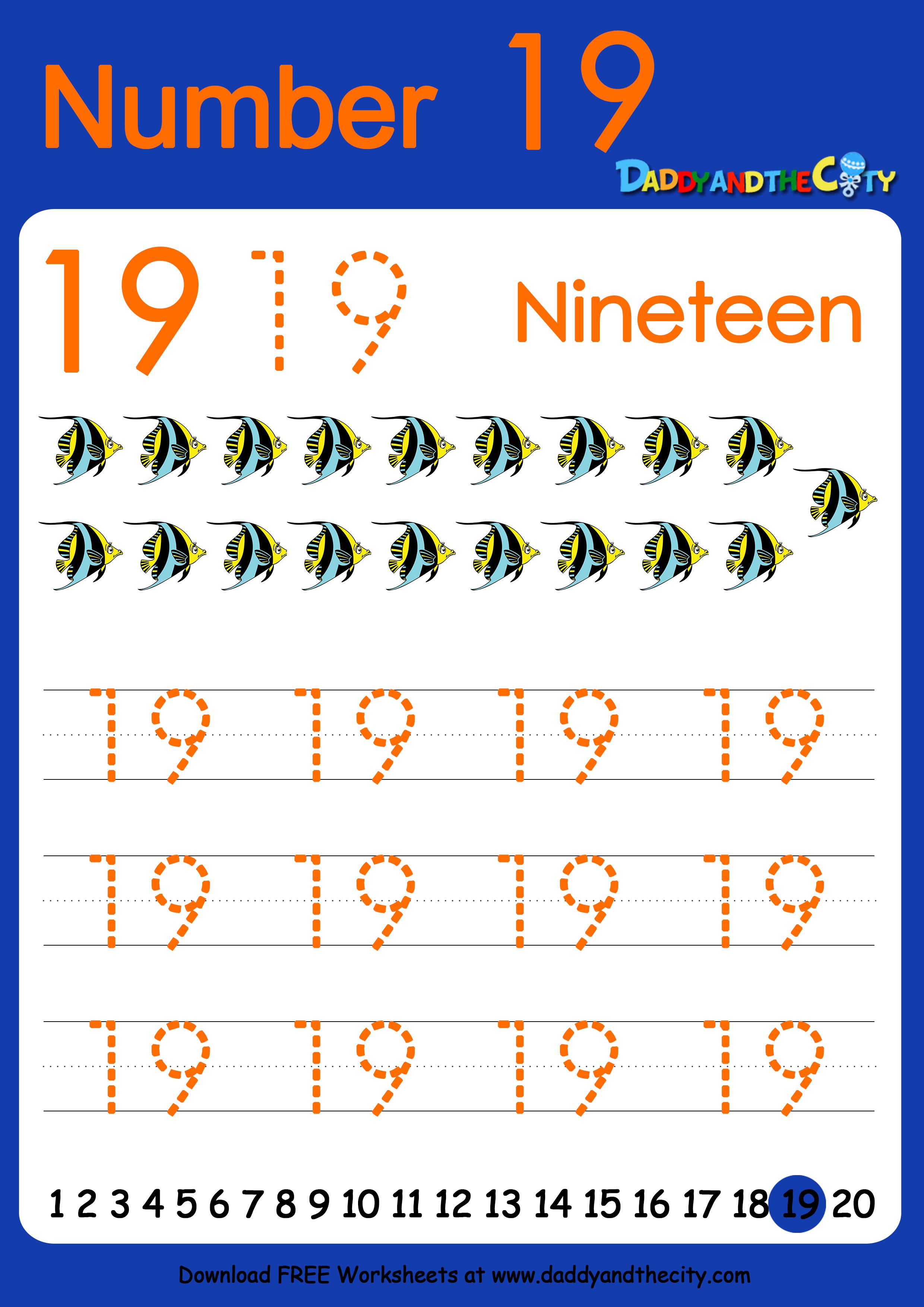Free Writing Worksheet  U2013 Numbers 11